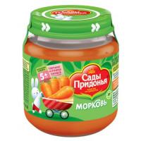 Пюре Сады Придонья морковь 120мл ст/б