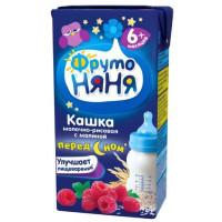Кашка Фруто-няня рисовая молочная с малиной готовая к употреблению 200мл