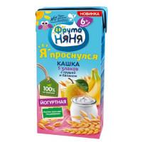 Кашка Фруто-няня молочно-овсяная йогуртная 5 злаков с грушей и бананом готовая к употреблению 200мл