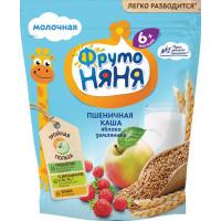 Каша Фруто-няня пшеничная молочная с яблоками и земляникой 200г
