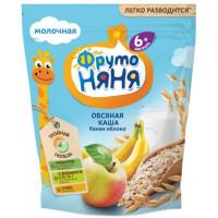 Каша Фруто-няня овсяная молочная с яблоком и бананом 200г