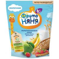 Каша Фруто-няня молочная мультизлаковая яблоко/банан/земляника 200г