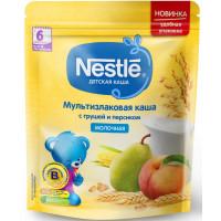 Каша Нестле мультизлаковая молочная с грушей и персиком 220г
