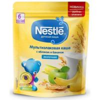 Каша Нестле мультизлаковая молочная с яблоком и бананом 220г дой-пак