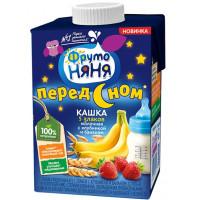 Кашка Фруто-няня молочная 5 злаков с клубникой и бананом готовая к употреблению 500г