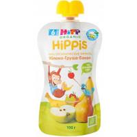 Пюре Хипп Хиппис яблоко-груша-банан 100г дой-пак