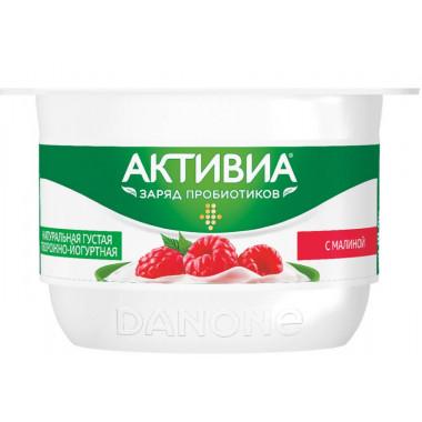 Биопродукт Активиа с творожным кремом малина жир.4,2% 130г