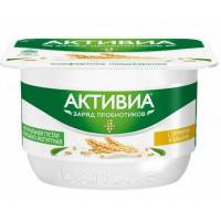 Биопродукт Активиа с творожным кремом отруби+злаки жир.4,3% 130г