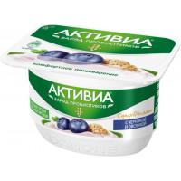 Биопродукт Активиа творожно-йогуртный черника овсянка 4,0%130г