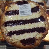Пирог с творогом и малиной кг 12ч/24ч