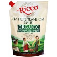 Майонез Мистер Рикко на перепелином яйце органик 67% 800г дой-пак