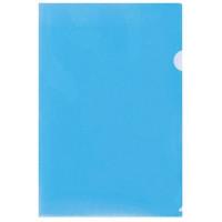 Папка-уголок PU7010ВE Лайт синий А4