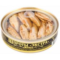 Шпроты Вкусные консервы экстра 160г ж/б прозр/кр
