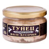 Тунец Вкусные консервы филе натуральный 190г ст/б