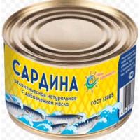 Сардина Наш промысел атлантическая натуральная с добавлением масла 240г