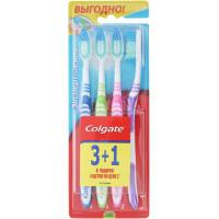 Зубная щетка Колгейт эксперт чистоты 3+1 в подарок средней жесткости