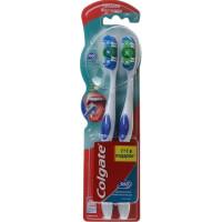 Зубная щетка Колгейт 360 суперчистота средней жесткости 1+1