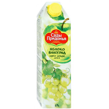 Сок Сады Придонья яблоко виноград 1л
