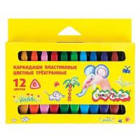 Карандаши Каляка-маляка пластиковые цветные 12 цветов  КПКМ12