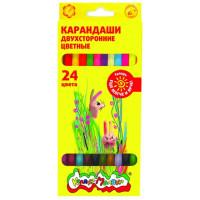 Карандаши Каляка-маляка цветные 12шт двухсторонние КДКМ24