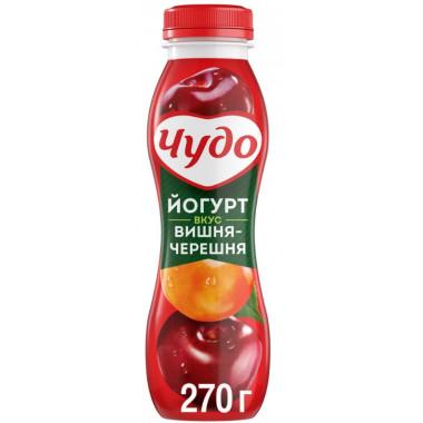 Йогурт Чудо питьевой вишня-черешня жир. 2,4% 270г