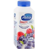Йогурт Валио питьевой малина и черника 0,4% 330г