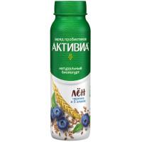 Био-йогурт Активиа питьевой обогащенный черника 5 злаков семена льна 2,1% 260г бут