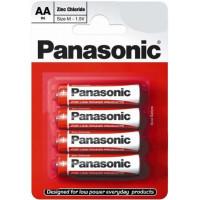 Батарейки Панасоник R6 солевая АА 4шт