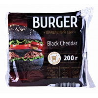 Сыр Бургер Блек чеддер плавленый 45% 200г