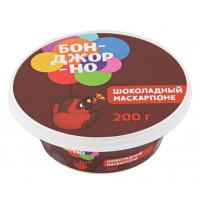 Сыр Бонджорно Маскарпоне с шоколадом 50% 200г