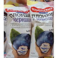 Мороженое Карельский стандарт пломбир ванильный с черникой 70г ваф. стаканчик