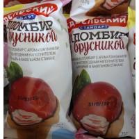 Мороженое Карельский стандарт пломбир ванильный с брусникой 70г ваф. стаканчик