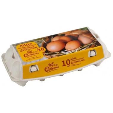 Яйцо Сметанино Деревенское столовое С1 10шт