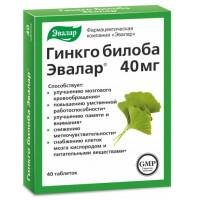 Гинкго билоба Эвалар 40мг 40 таблеток