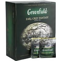 Чай Гринфилд эрл грей фэнтази цейлонский черный 100пак. 200г
