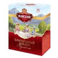 Чай Майский Благородный цейлон черный крупнолистовой 100пак