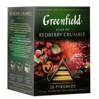 Чай Гринфилд Рэдберри Крамбл 20пак. 36г пирамидки