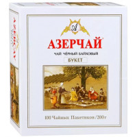 Чай Азерчай черный букет 200г 100пак