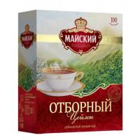 Чай Майский отборный черный чай 100пак 200г