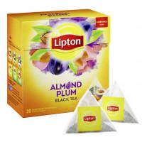 Чай Липтон Алмонд Плум черный с лепестками роз 20пак. 36г
