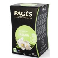Чай Пажес зеленый био жасмин 36г 20пак