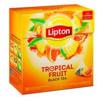 Чай Липтон с ароматом тропических фруктов байховый черный 20пак/пир 36г