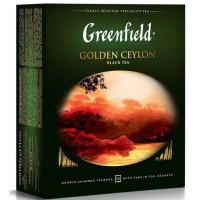 Чай Гринфилд голден цейлон черный 100пак. 200г