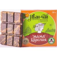 Чай Мама Карелия Иван-чай карельский с морошкой 70г прессованный