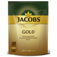 Кофе Якобс Голд 140г пакет