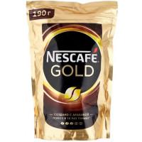 Кофе Нескафе голд растворимый сублимированный 190г пакет