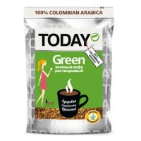 Кофе Тудей зеленый натуральный растворимый 75г пакет
