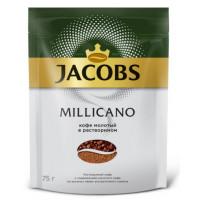 Кофе Якобс Монарх Милликано растворимый 75г пакет