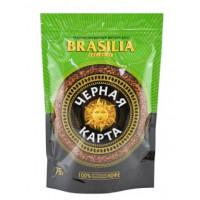 Кофе Черная карта эксклюзив бразилия сублимированный растворимый 75г пакет