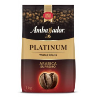 Кофе Амбассадор Платинум в зернах 1000г пакет